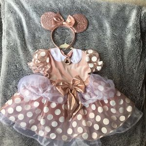 Rose Gold Minnie Mouse costume